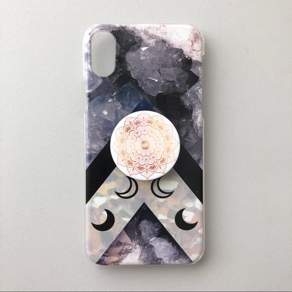 pretty nice ef7d1 68a71 Moon Phases iPhone X Case + PopSocket